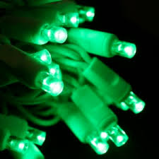 20 green 5mm led craft lights white wire