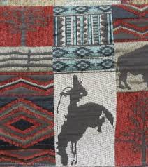 Upholstery Fabric Southwestern Pattern Rustic Lodge Chenille Upholstery Fabric Great Lakes Fabrics Inc