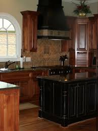 To Paint Or Stain Kitchen by Love This Contrasting Black Kitchen Island Might Take Some
