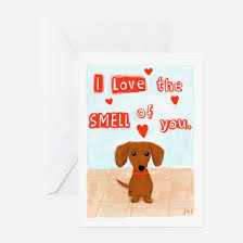 dachshund greeting cards cafepress
