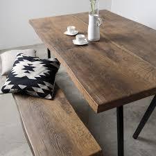 esstisch holz moderner esstisch holz metall rechteckig sun wood