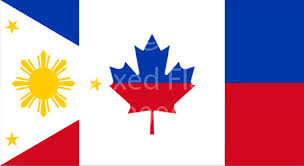 mixed philippines and canada flag t shirt designs