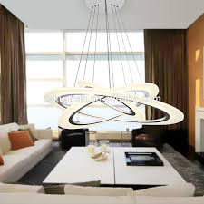 ladario sala da pranzo tre cerchi led pendente sospensione ladario di lusso sala
