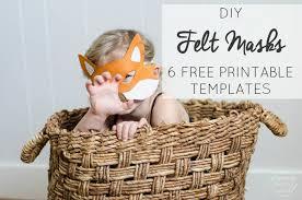 diy felt animal masks 6 free printable templates