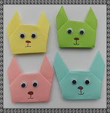 easter bunny paper origami u2013 easycraftsforchildren