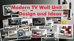 modern tv wall unit design and ideas youtube