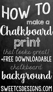 make a chalkboard printable in photoshop