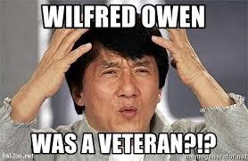 Wilfred Meme - wilfred owen was a veteran confused jackie chan meme generator