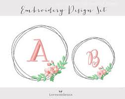 half wreath five sizes embroidery design modern embroidery