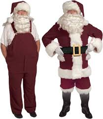 santa suits velvet overalls