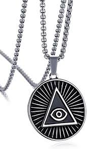 all round necklace images Mealguet jewelry stainless steel triangle eye of providence jpg