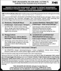 design criteria tmr jobs vacancy career at tmr urusharta sdn bhd kerjakerajaan info