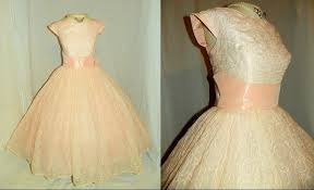 pink vintage wedding dress tea length