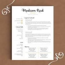 creative resume template the madison u2013 landed design solutions