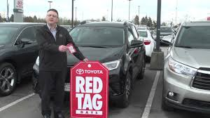 best toyota deals red tag days 2017 toyota rav4 best deals of the year west