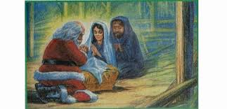 santa and baby jesus santa and baby jesus gregfallis
