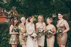 gold bridesmaid dresses gold bridesmaids dresses a unique bridal party look