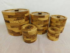 wooden kitchen canister sets unbranded wood kitchen canister sets ebay