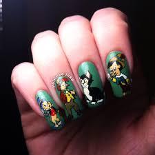 disney pinocchio nail art u2013 polished inka