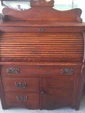 Oak Crest Desk Vintage Roll Top Desk Ebay