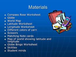 globe and maps worksheet longitude and latitude ppt