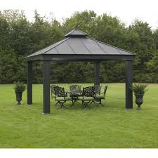 Wrought Iron Patio Furniture For Sale by Exterior Black Hardtop Gazebo With Wrought Iron Outdoor Furniture