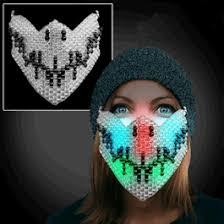bead mask handmade led skull bead mask magic matt s brilliant blinkys