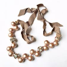 ribbon necklace making images J crew jewelry j crew pearl crystal ribbon necklace poshmark jpg