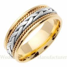 mens wedding bands mens wedding bands suppliers and manufacturers 18k two tone white yellow gold mens mans braided twisted rope