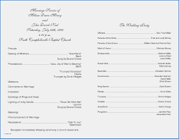 wedding program format exles obituaries exles templates lovely awesome church wedding