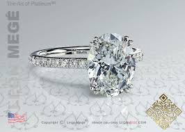 solitaire oval engagement rings r6054 mege oval solitaire engagement ring with micro pave