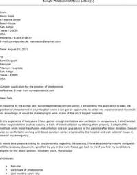 ideas collection cover letter for phlebotomist with no experience
