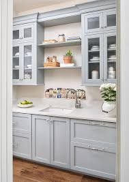Pantry Cabinet Doors by Gray Butler Pantry With Seeded Glass Cabinet Doors Transitional