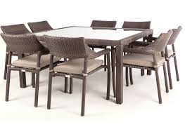 8 chair square dining table nico square glass top patio dining table for 8 people ogni