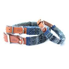 Rag Rug Bracelet Indigo Dyed Rag Rug Dog Collar Designer Dog Clothing And Dog