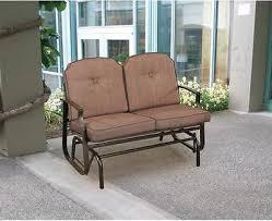 outdoor glider bench patio furniture porch loveseat garden seat