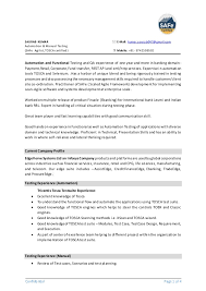 Testing Sample Resumes For Manual Testing by Resume Automation Engineer Corpedo Com