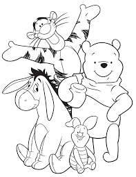 eeyore tigger pooh piglet coloring coloring opportunity