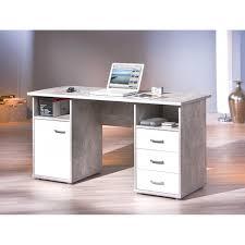 Schreibtisch Computer Fsc Schreibtisch Florus 1 Tür 3 Schubl Beton Wei Wendland Moebel