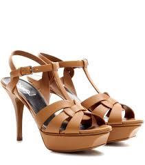 saint laurent leather pumps caramel brown women saint laurent