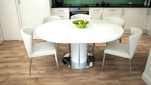 extendable kitchen table and chairs expandable round dining table white extendable round dining table