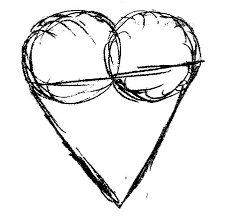 how to draw a heart frank ball