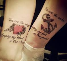 mother daughter tattoos heart u0026 anchor you are the wings keeping