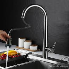 Pull Out Spray Kitchen Faucets 2017 Brushed Kitchen Faucet Pull Out Spray Deck Mounted Sink Mixer