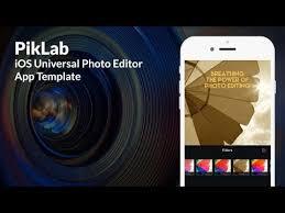 piklab ios universal photo editor app template swift youtube