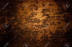 halloween background texture dark old scary rusty rough golden and copper metal surface texture