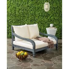 safavieh pomona ash grey outdoor patio lounge chair with beige
