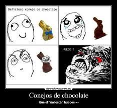 Memes De Chocolate - conejos de chocolate desmotivaciones