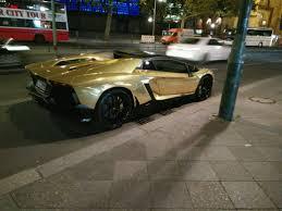 lamborghini aventador gold chrome gold aventador roadster in berlin