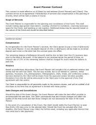 wedding planner contracts sle wedding planner contract template picture the day of